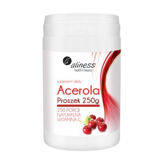 Aliness Acerola Proszek Naturalna Witamina C 250 mg, 250 g - zdjęcie produktu