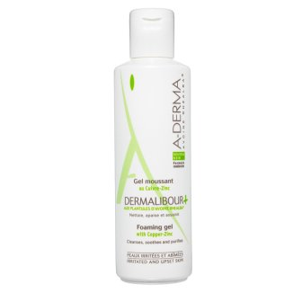 A-Derma Dermalibour+, oczyszczający żel do mycia ciała, skóra podrażniona, 250 ml - zdjęcie produktu