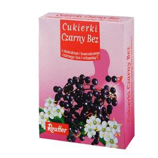 Reutter, cukierki czarny bez, 50 g - zdjęcie produktu