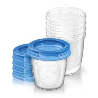 Avent, pojemniki na pokarm z przykrywkami, 180 ml, SCF619/ 05, 5 sztuk - zdjęcie produktu