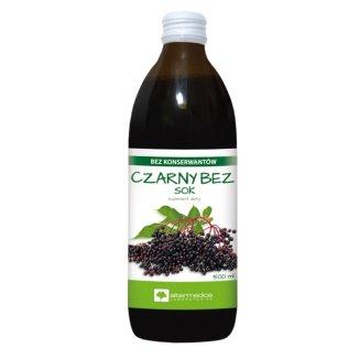 Alter Medica, sok z czarnego bzu, 500 ml - zdjęcie produktu