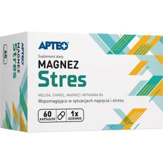 Apteo Magnez Stres, 60 kapsułek - zdjęcie produktu