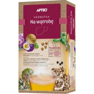 Apteo Herbatka na wątrobę, ziołowa, 1,8 g x 20 saszetek - zdjęcie produktu