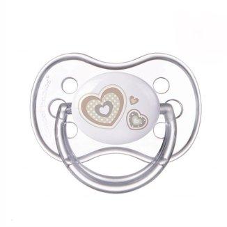Canpol, smoczek silikonowy, okrągły, NewBorn Baby, rozmiar A, 0-6 miesiaca, 1 sztuka - zdjęcie produktu