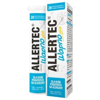 Allertec Wapno Plus, smak cytrynowy, 20 tabletek musujących - zdjęcie produktu