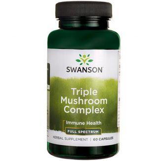 Swanson, Full Spectrum Triple Mushroom, kompleks trzech grzybków, 60 kapsułek - zdjęcie produktu