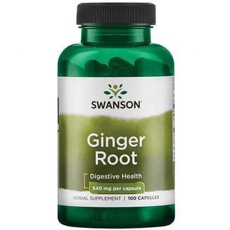 Swanson Ginger Root, imbir, 100 kapsułek - zdjęcie produktu
