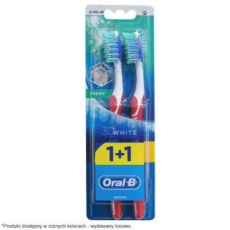 Oral-B, szczoteczka do zębów, 3D White Fresh, 40 Medium, 2 sztuki - zdjęcie produktu