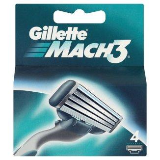 Gillette Mach 3, wkłady wymienne, 4 sztuki - zdjęcie produktu