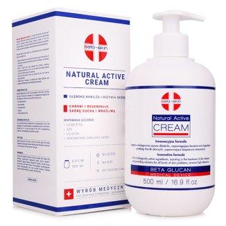 Beta Skin Natural Active Cream, krem do ciała, 500 ml - zdjęcie produktu