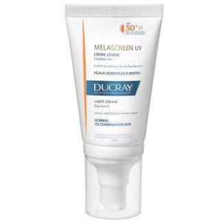 Ducray Melascreen UV, lekki krem ochronny na przebarwienia, skóra normalna i mieszana, SPF50+, 40 ml - zdjęcie produktu
