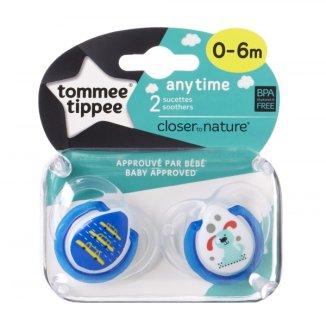 Tommee Tippee, smoczek silikonowy, ortodontyczny, ANY TIME, 0-6 miesiąca, 2 sztuki - zdjęcie produktu
