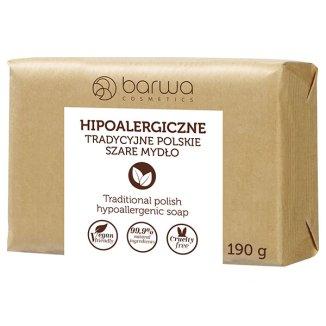 Barwa, Hipoalergiczne Tradycyjne Polskie, mydło szare, 190 g - zdjęcie produktu