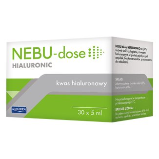 Nebu-Dose Hialuronic, 0,9% roztwór do nebulizacji z kwasem hialuronowym, 5 ml x 30 ampułek  - zdjęcie produktu
