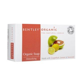 Bentley Organic, mydło detoksykujące z grejpfruta, cytryny i wodorostów, 150 g - zdjęcie produktu