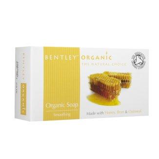Bentley Organic, mydło wygładzające z miodu, otrąb i płatków pszennnych, 150 g - zdjęcie produktu