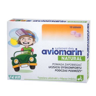 Aviomarin Natural, po 6 roku życia, 10 tabletek - zdjęcie produktu