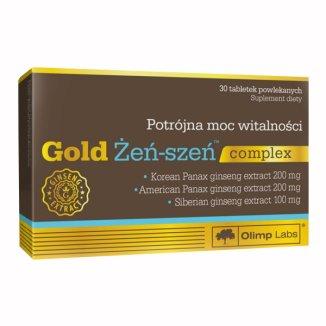 Olimp Gold Żeń-szeń Complex, 30 tabletek powlekanych - zdjęcie produktu