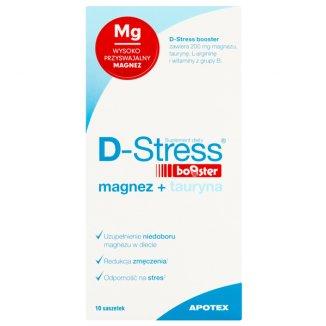 D-Stress Booster, magnez + tauryna, 10 saszetek - zdjęcie produktu