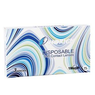 Soczewki kontaktowe Horien Disposable, 30-dniowe, -0,50, 3 sztuki - zdjęcie produktu