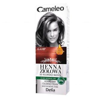 Delia Cameleo, ziołowy krem koloryzujący Henna Ziołowa, nr 6.6, odcień rubin, 75 g - zdjęcie produktu