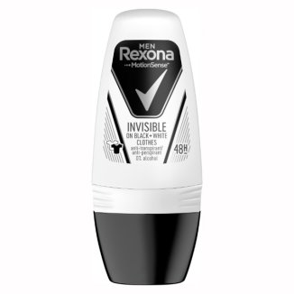 Rexona Men, antyperspirant roll-on, Invisible Black&White, 50 ml - zdjęcie produktu