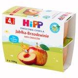 HIPP, Owocowa chwila BIO, jabłka i brzoskwinie, po 4 miesiącu, 4 x 100 g - miniaturka zdjęcia produktu