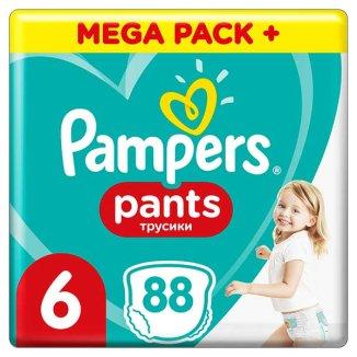 Pampers Pants, pieluchomajtki rozmiar 6, 15 + kg, 88 sztuk - zdjęcie produktu