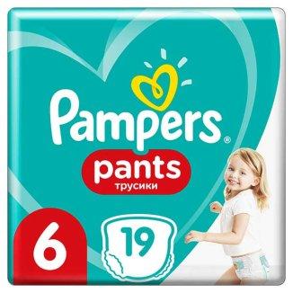 Pampers Pants, pieluchomajtki, Extra Large, rozmiar 6, 15+ kg, 19 sztuki - zdjęcie produktu