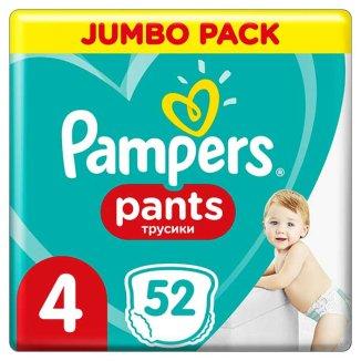 Pampers Pants, pieluchomajtki, Maxi, rozmiar 4, 9-15 kg, 52 sztuki - zdjęcie produktu