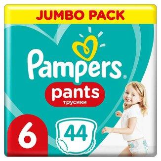 Pampers Pants, pieluchomajtki, Extra Large, rozmiar 6, 15+ kg, 44 sztuki - zdjęcie produktu