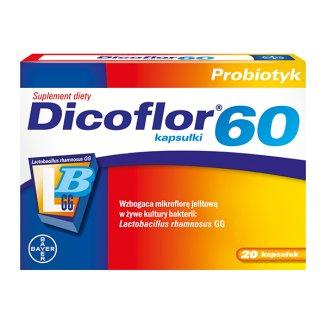 Dicoflor 60, 20 kapsułek - 2 - zdjęcie produktu