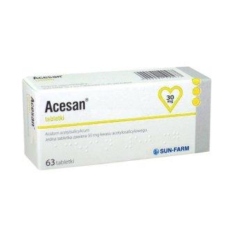 Acesan 30 mg, 63 tabletki - zdjęcie produktu