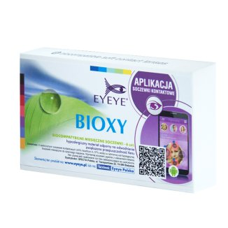 Soczewki kontaktowe Eyeye Bioxy, 30-dniowe, -2,25, 6 sztuk - zdjęcie produktu
