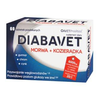 Diabavet Morwa + Kozieradka, 60 tabletek - zdjęcie produktu