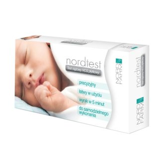 Nordtest, test ciążowy hCG płytkowy, super czuły 10 mlU/ ml, 1 sztuka - zdjęcie produktu