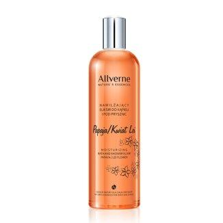 Allverne Nature Essences, eliksir do kąpieli nawilżający, Papaja i Kwiat Lei, 500 ml - zdjęcie produktu