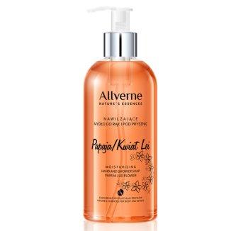 Allverne Nature Essences, mydło do rąk i pod prysznic, Papaja i Kwiat Lei, 300 ml - zdjęcie produktu