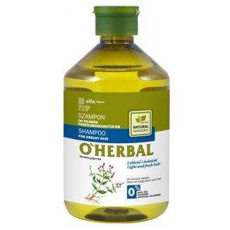 O'Herbal, szampon do włosów przetłuszczających się z ekstraktem z mięty, 500 ml - zdjęcie produktu