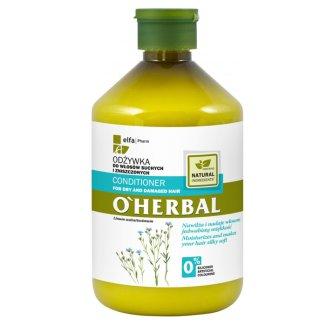 O'Herbal, odżywka do włosów suchych i zniszczonych z ekstraktem z lnu, 500 ml - zdjęcie produktu