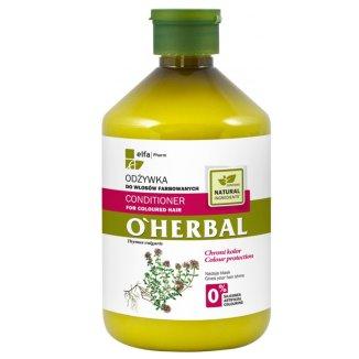 O'Herbal, odżywka do włosów farbowanych z ekstraktem z macierzanki i tymianku, 500 ml - zdjęcie produktu