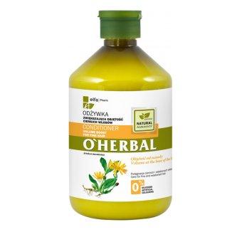 O'Herbal, odżywka zwiększająca objętość cienkich włosów z ekstraktem z arniki, 500 ml - zdjęcie produktu