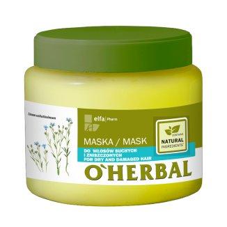 O'Herbal, maska do włosów suchych i zniszczonych z ekstraktem z lnu, 500 ml - zdjęcie produktu