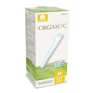 Tampony higieniczne Organyc, Regular z aplikatorem, 16 sztuk - zdjęcie produktu