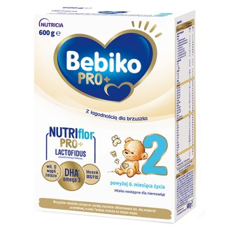 Bebiko Pro+ 2 Nutriflor, mleko następne częściowo fermentowane, powyżej 6 miesiąca, 600 g - zdjęcie produktu