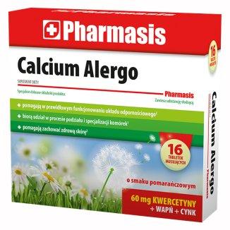 Pharmasis Calcium Alergo, smak pomarańczowy, 16 tabletek musujących - zdjęcie produktu