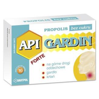 Api Gardin Forte, z Propolisem, bez cukru, 16 pastylek do ssania - zdjęcie produktu