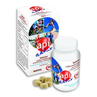 Api Aktiv, pyłek kwiatowy, 90 tabletek - zdjęcie produktu