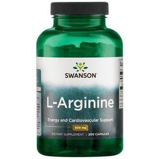 Swanson, L-arginina 500 mg, 200 kapsułek - zdjęcie produktu