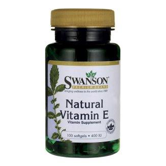 Swanson Natural Vitamin E, witamina E 400 IU, 100 kapsułek - zdjęcie produktu